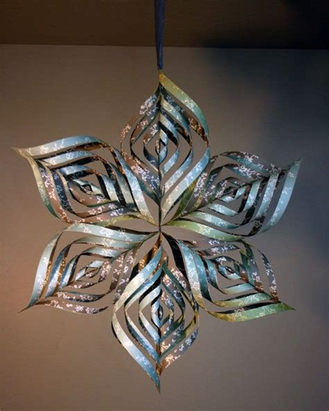 origami snowflake 3d paper snowflake can also make smaller ornaments using