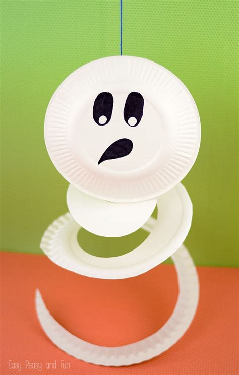 craft with paper plate paper plate ghost paper plate crafts for easy