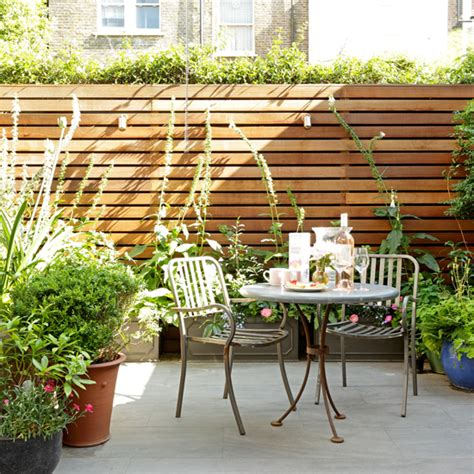 patio ideas for small gardens ideas for townhouse gardens 20 of the best ideal home