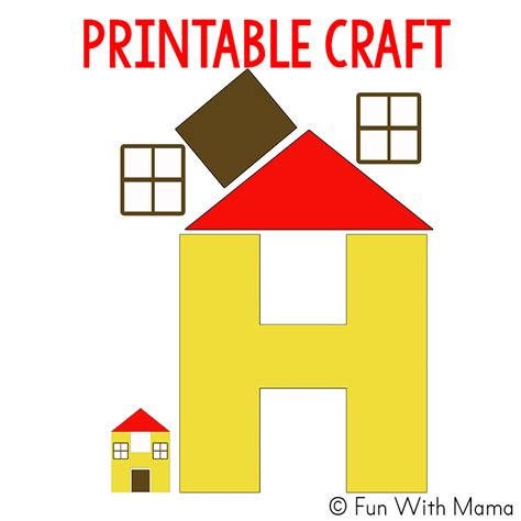 craft for pdf letter h worksheets activities with