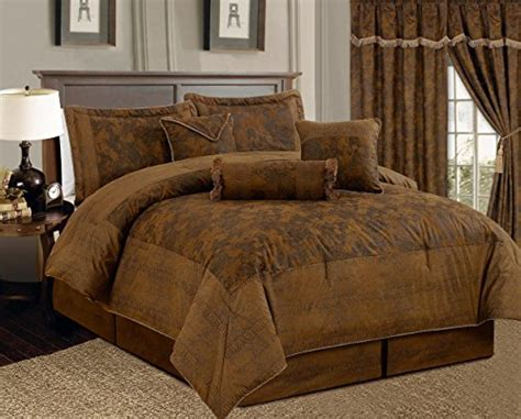 brown comforter set king 7 camel brown lavish oversize 106 quot x 94
