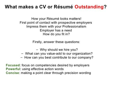what does in effective cv resume writing