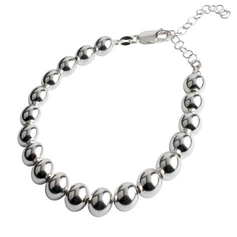 sterling silver bead bracelet sterling silver 8mm bead bracelet