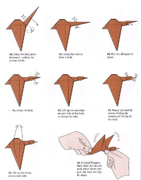 origami wings duck flapping wings