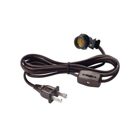 cord light socket westinghouse 6 ft cord set with candelabra base socket