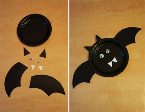 paper plate bat craft paper plate bat dolledupdesign