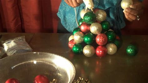 how to make a tree with ornaments fantastic and easy to make ornament tree using
