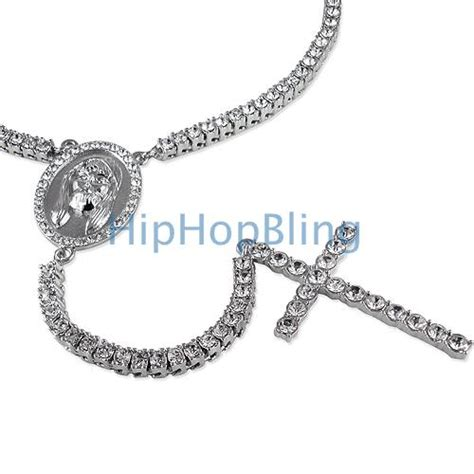 rosary chain for jewelry bling bling chain 1 row rosary necklace hip hop rosary