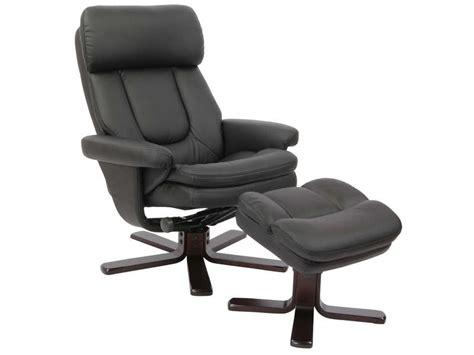 fauteuil relaxation repose pieds charles coloris noir vente de fauteuil conforama
