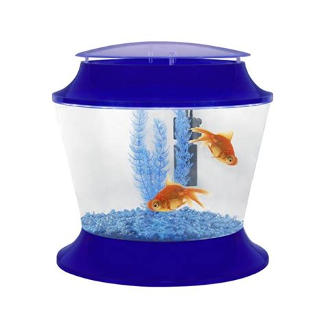 fish r plastic fish bowl kit blue childrens aquarium fish tanks