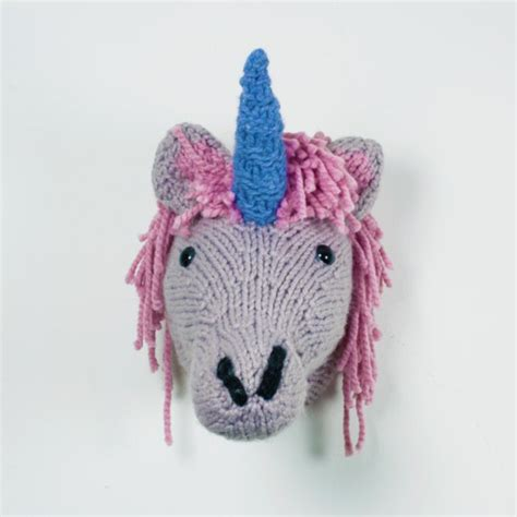 knitted unicorn now you can knit your own unicorn trophy with this kit