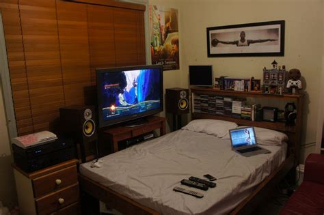 how to set up your bedroom furniture ps3 pics apartment setups page 43 avs forum home