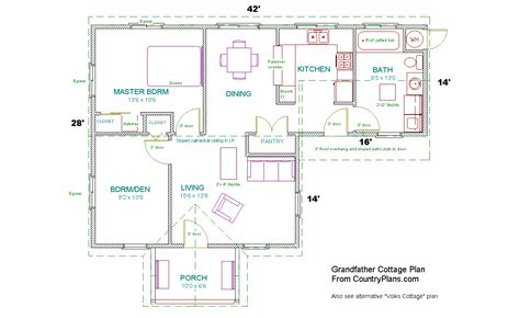 home interior design plans grandfather cottage home plans kit
