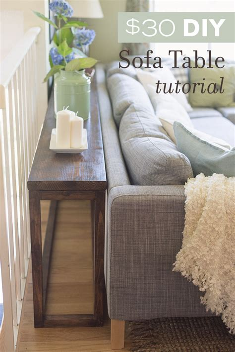 table the sofa 30 diy sofa console table tutorial sue design