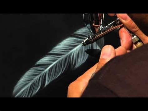 with airbrush airbrush tv jonathan pantaleon airbrush feather tutorial