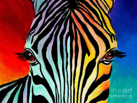 acrylic painting zebra zebra end of the rainbow by vannoy call