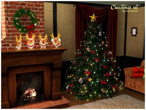 sims 3 weihnachtsbaum my sims 3 decor set by severinka