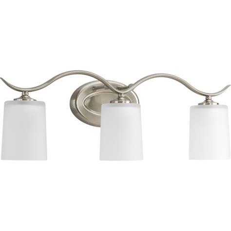 home depot bathroom lighting brushed nickel progress lighting inspire collection brushed nickel 3