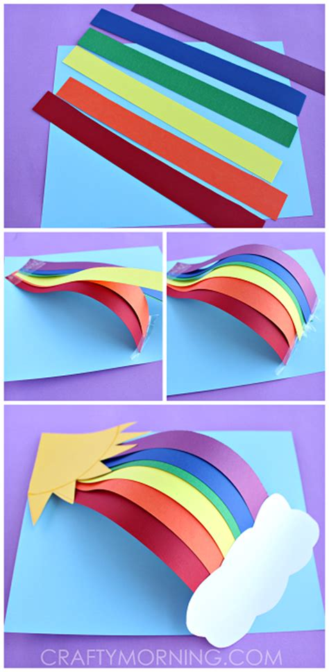 paper crafts for teenagers 3d paper rainbow craft crafty morning