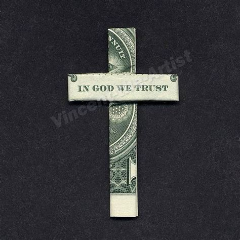 religious origami in god we trust dollar bill origami and dollar bills on