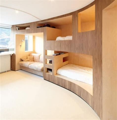 cool bunk bed rooms 26 cool and functional built in bunk beds for digsdigs