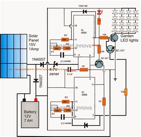 solar light schematic solar garden light with programmable timer circuit