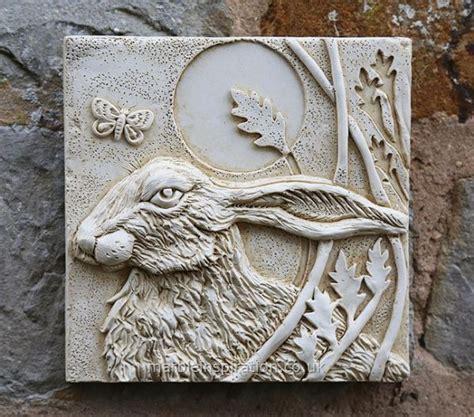 garden wall plaques hare wall tile left garden wall plaque garden wall
