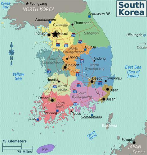 south korea maps of south korea detailed map of south korea in