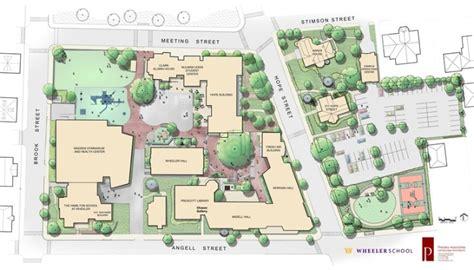landscape design school wheeler school student center is a green roofed glass gem