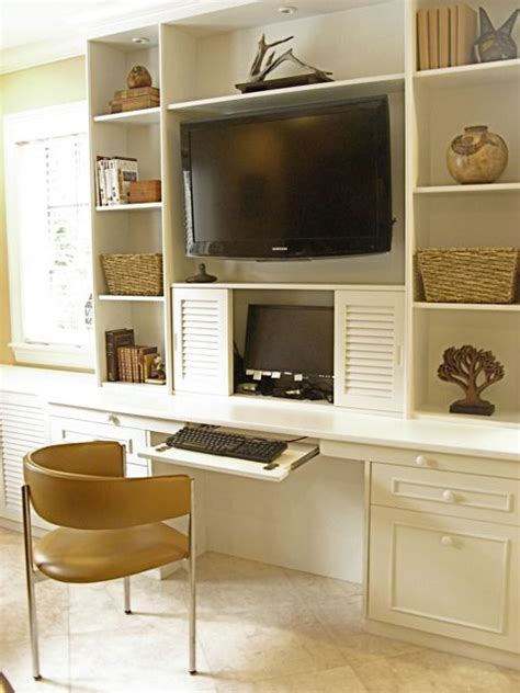 wall unit with desk wall unit with desk smart storage solution for home office homesfeed