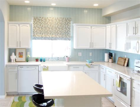 blue kitchen tile backsplash make the kitchen backsplash more beautiful