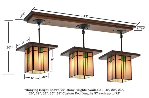 mission style lighting fixtures craftsman light fixture 506 mission studio