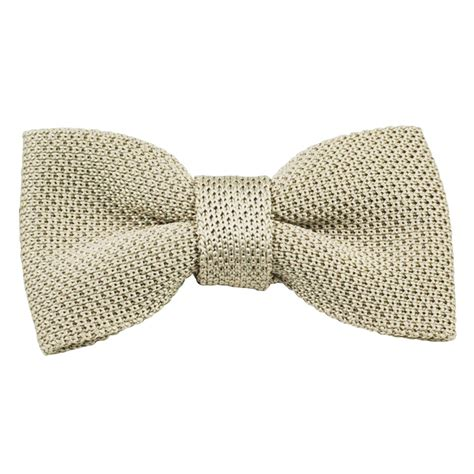 knitted bow tie vidoni plain ecru silk designer knitted bow tie from ties