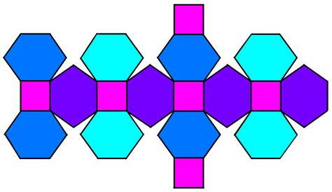 rhombic dodecahedron origami file truncated rhombic dodecahedron net png wikimedia