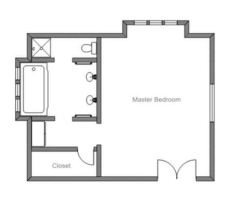 Master Bedroom Floor Plans With Bathroom ezblueprint com