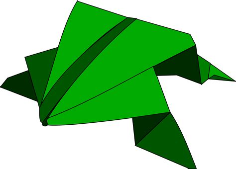 leaping frog origami clipart origami jumping frog