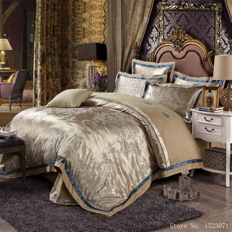 bed linen sets european style mulberry silk bed linen set jacquard satin
