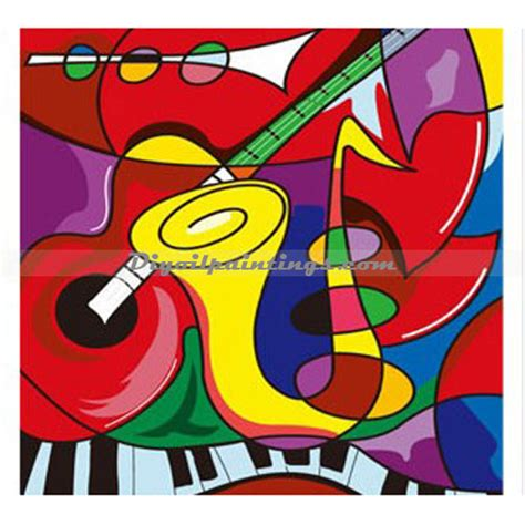 picasso paintings with musical instruments diyoilpaintings paint by number kit musical instruments