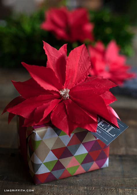 poinsettia paper craft how to diy paper napkin poinsettia tutorial