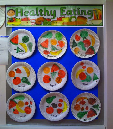 healthy food crafts for healthy classroom display photo sparklebox