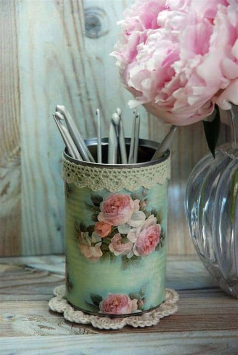 decoupage tin decoupage metal tin cans craft tutorial