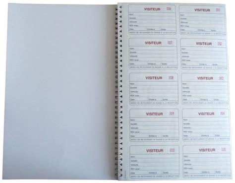 registre des visiteurs avec badges et cahier seton fr