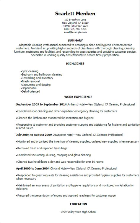 fishing resume template professional cleaning professional resume templates to