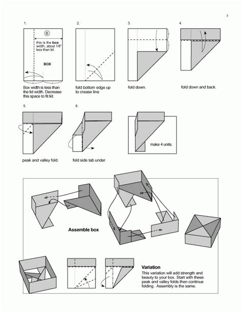 origami box steps origami diagrams featured in paper unlimited paper unlimited