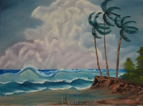 bob ross painting original for sale bob ross windy waves painting for sale