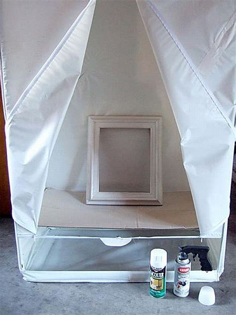 spray painting indoors use a plastic wardrobe for indoor spray painting
