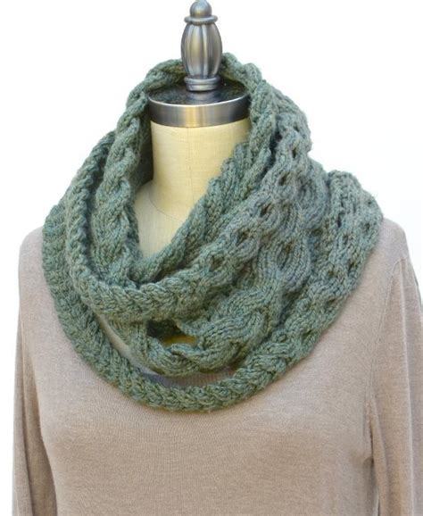 cable knit infinity scarf pattern plait by pam powers knits knitting pattern