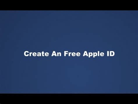 make a free apple id without credit card create a free apple id in itunes without a credit card