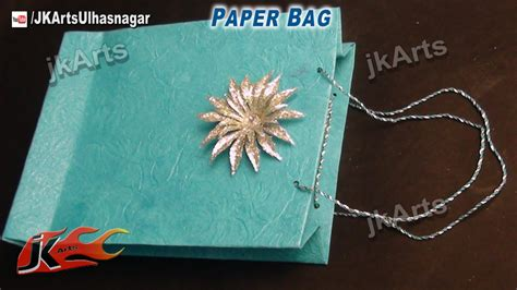 how to make and craft with paper how to make paper bag easy craft jk arts 510