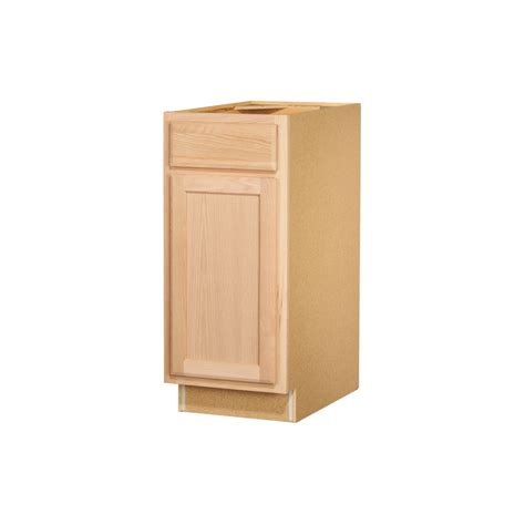 lowes cabinets unfinished shop kitchen classics 35 in x 15 in x 23 75 in unfinished oak door and drawer base cabinet at